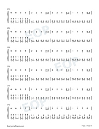 Illusionary Daytime-Nice Version Numbered Musical Notation Preview 2