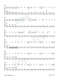 Illusionary Daytime-Nice Version Numbered Musical Notation Preview 3