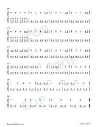 Illusionary Daytime-Nice Version Numbered Musical Notation Preview 4