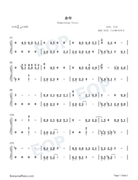 Remaining Years-Joy of Life ED-Numbered-Musical-Notation-Preview-1