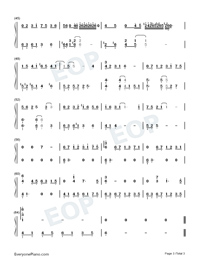 Remaining Years-Joy of Life ED-Numbered-Musical-Notation-Preview-3
