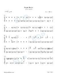 Dream Meets-Light Music-Numbered-Musical-Notation-Preview-1