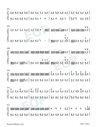 Dream Meets-Light Music-Numbered-Musical-Notation-Preview-2
