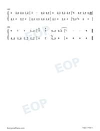 Dream Meets-Light Music-Numbered-Musical-Notation-Preview-3