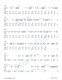 Into the Unknown-Frozen 2 OST-Numbered-Musical-Notation-Preview-2