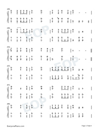 Serve the Lord with Gladness Numbered Musical Notation Preview 3