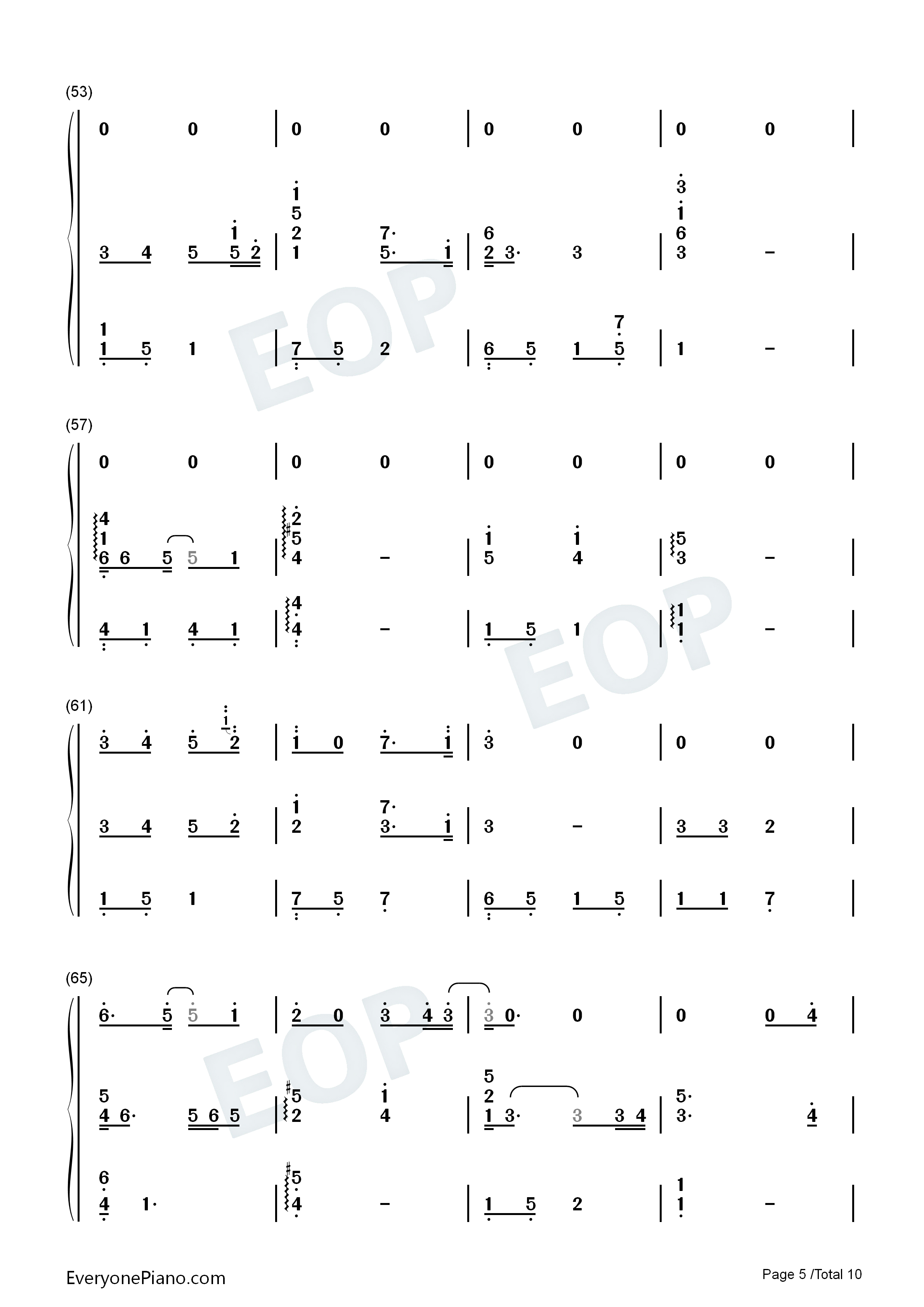 Can You See My Heart-Hotel del Luna OST Numbered Musical Notation Preview 5