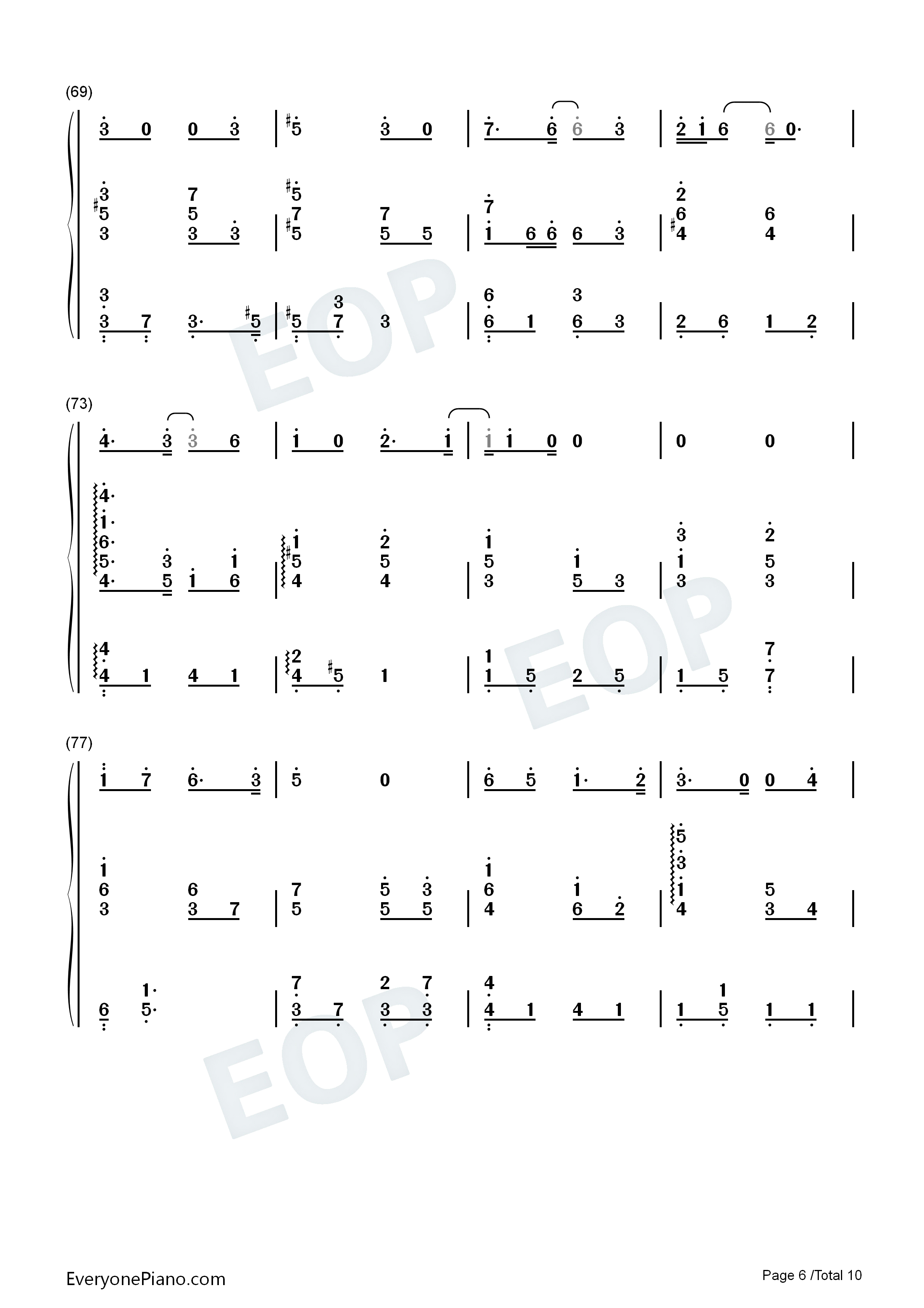 Can You See My Heart-Hotel del Luna OST Numbered Musical Notation Preview 6