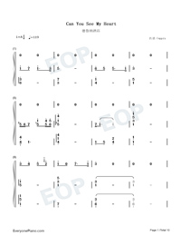 Can You See My Heart-Hotel del Luna OST-Numbered-Musical-Notation-Preview-1