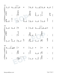 Can You See My Heart-Hotel del Luna OST-Numbered-Musical-Notation-Preview-4