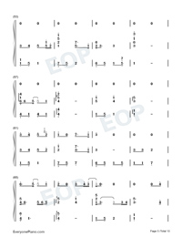Can You See My Heart-Hotel del Luna OST-Numbered-Musical-Notation-Preview-5