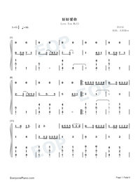 Love You Well-Sodagreen-Numbered-Musical-Notation-Preview-1