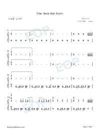 Time Back-Bad Style-Numbered-Musical-Notation-Preview-1