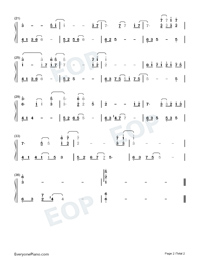 Deviate-Mr Love Queens Choice BGM Numbered Musical Notation Preview 2