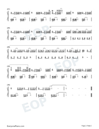 Lost To Know Numbered Musical Notation Preview 2