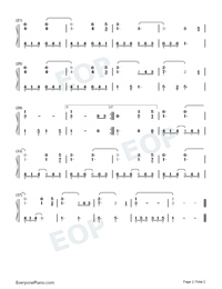 Hallelujah-Leonard Cohen-Numbered-Musical-Notation-Preview-2