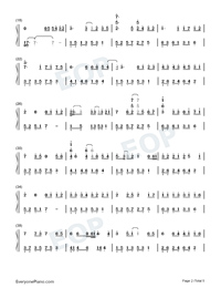 Medley of Canon and Pop Songs-Numbered-Musical-Notation-Preview-2