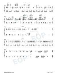 Medley of Canon and Pop Songs-Numbered-Musical-Notation-Preview-5