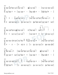 Remaining Years-C Major Version-Numbered-Musical-Notation-Preview-2
