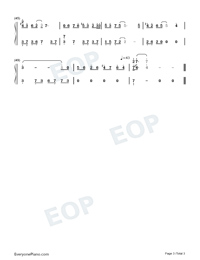 Remaining Years-C Major Version-Numbered-Musical-Notation-Preview-3