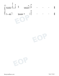Go Downhill-TikTok Hot Song-Numbered-Musical-Notation-Preview-5