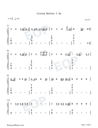 Listen Before I Go-Billie Eilish-Numbered-Musical-Notation-Preview-1