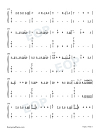 Listen Before I Go-Billie Eilish-Numbered-Musical-Notation-Preview-2