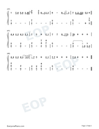 Listen Before I Go-Billie Eilish-Numbered-Musical-Notation-Preview-3