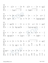 Satisfied-Xiao Zhan Numbered Musical Notation Preview 3