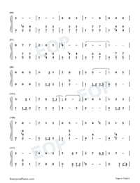 Satisfied-Xiao Zhan Numbered Musical Notation Preview 4