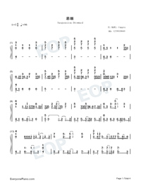 Suspension Drowned-TikTok Hot Song-Numbered-Musical-Notation-Preview-1