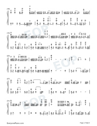 Suspension Drowned-TikTok Hot Song-Numbered-Musical-Notation-Preview-2