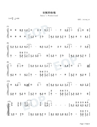 Annies Wonderland-Perfect Version-Numbered-Musical-Notation-Preview-1