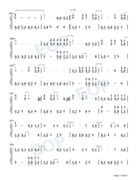 Annies Wonderland-Perfect Version-Numbered-Musical-Notation-Preview-3