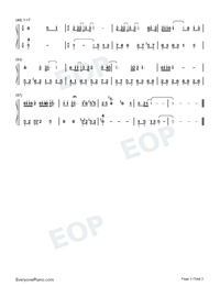 Beautiful Pain-Ada Zhuang-Numbered-Musical-Notation-Preview-3