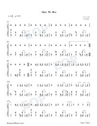 Omae Wa Mou Free Piano Sheet Music Piano Chords