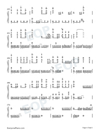 Vague Hope-Cold Rain-Perfect Version-Numbered-Musical-Notation-Preview-4