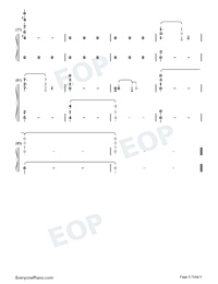 Vague Hope-Cold Rain-Perfect Version-Numbered-Musical-Notation-Preview-5