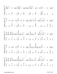 Fallen City-Eason Chan-Numbered-Musical-Notation-Preview-2