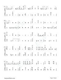 Fallen City-Eason Chan-Numbered-Musical-Notation-Preview-3
