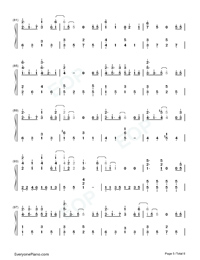 Fallen City-Eason Chan-Numbered-Musical-Notation-Preview-5