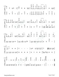 Fallen City-Eason Chan-Numbered-Musical-Notation-Preview-6