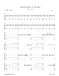 Conversations in the Dark-John Legend-Numbered-Musical-Notation-Preview-1