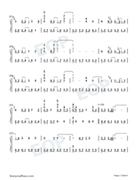 Tori no Uta Perfect Version Numbered Musical Notation Preview 2