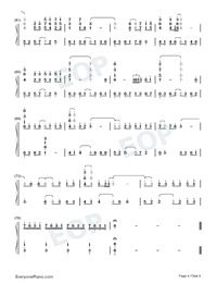 Tori no Uta Perfect Version Numbered Musical Notation Preview 4