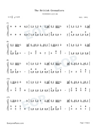 The British Grenadiers-Numbered-Musical-Notation-Preview-1