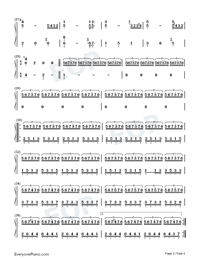 I Love You-Beautiful Light Music Numbered Musical Notation Preview 2