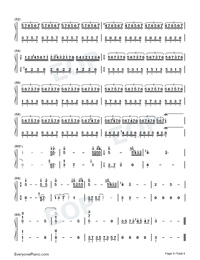 I Love You-Beautiful Light Music Numbered Musical Notation Preview 4