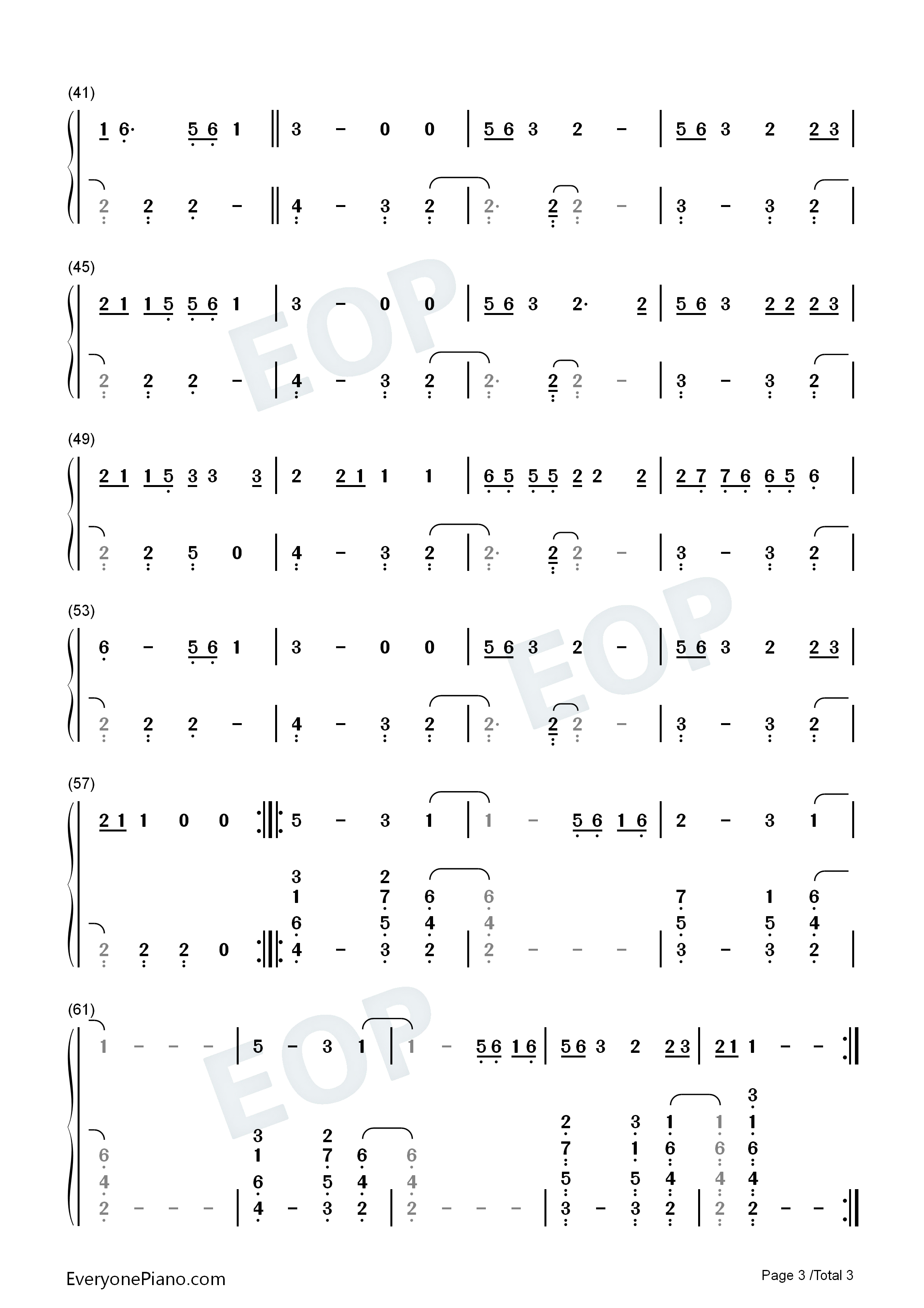 Talk-Khalid Numbered Musical Notation Preview 3