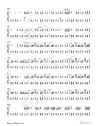 Whos Lovin You-October Numbered Musical Notation Preview 2